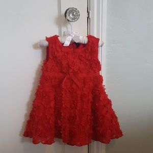 Baby Gap Red Roses Photo Op Dress 18 - 24 mos